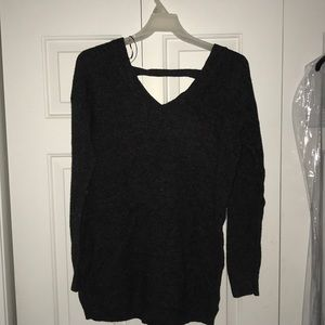 Comfy Ruby Moon Black Cross Back Sweater